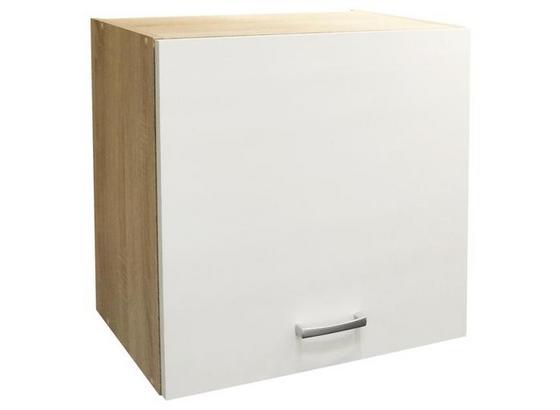 Küchenoberschrank Andy B: 50cm Eiche Dekor, Weiß - Eichefarben/Weiß, Basics, Holzwerkstoff (50/50/33cm) - Xora