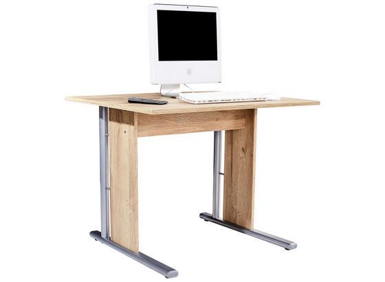 Písací Stôl Mindi - farby dubu, Moderný, umelá hmota/kov (100/72/70cm)