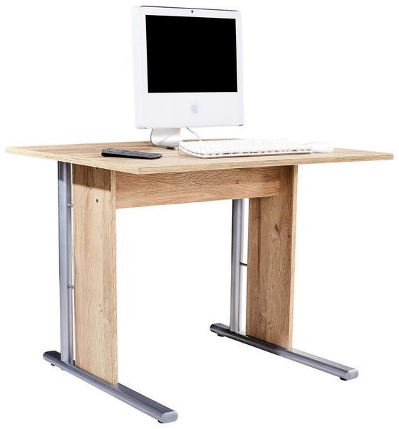 Schreibtisch Mindi - Eichefarben, MODERN, Holzwerkstoff/Kunststoff (100/72/70cm)