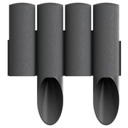 Gartenpalisade 2,3 M - Grau, MODERN, Kunststoff (5,5/25,5cm)