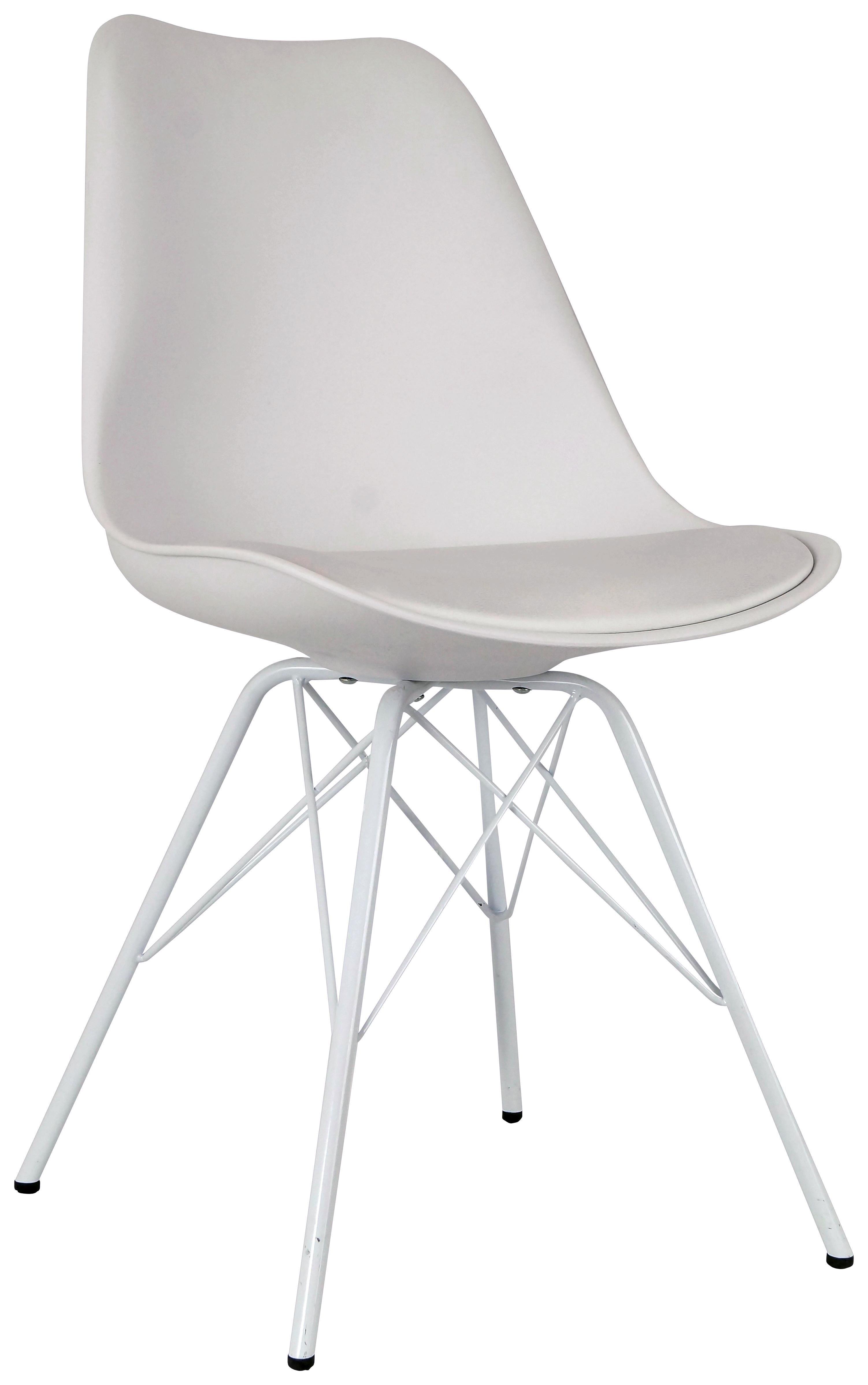 Stuhl Malmö 55cm Weiß - Weiß, MODERN, Kunststoff/Textil (55,5/86/48cm)