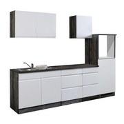 Küchenleerblock Cardiff B: 270cm Weiß/Vintage - Eichefarben/Weiß, Basics, Holzwerkstoff (270/60cm)