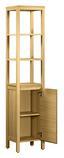 Vitrine Bali 41cm Eiche - Eichefarben, KONVENTIONELL, Holzwerkstoff (41/186/34cm)