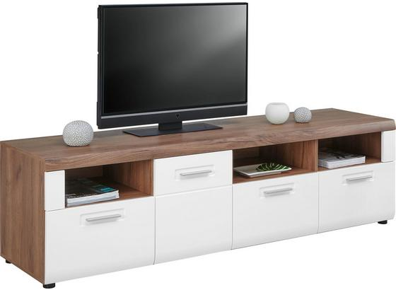 Tv Díl Avensis - bílá/barvy dubu, Moderní, kompozitní dřevo (190/51/49,6cm) - Luca Bessoni