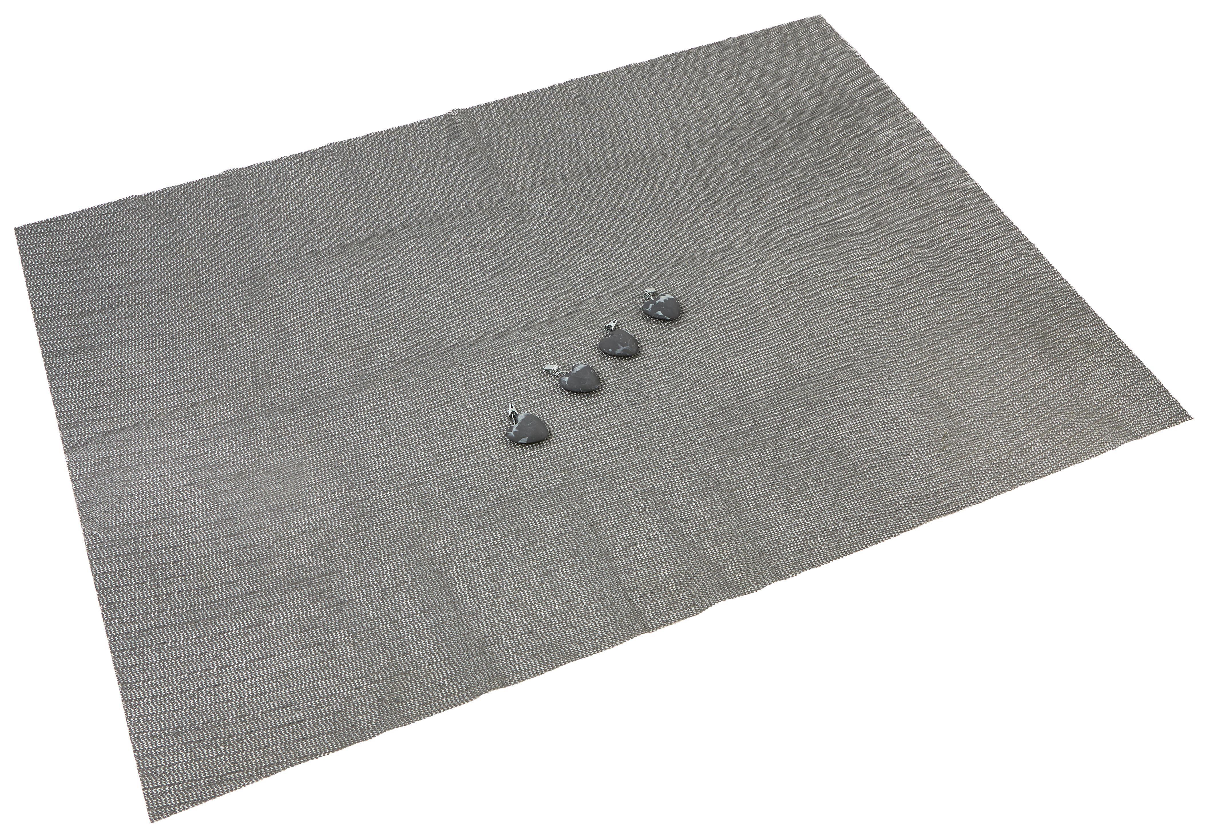 Terítő Laila - bézs/szürke, modern, textil (130/170cm)