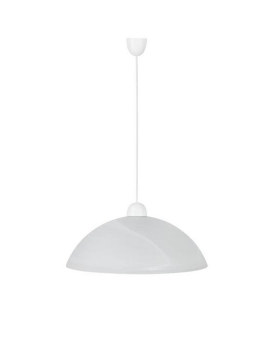 Hängeleuchte Vera - Weiß, KONVENTIONELL, Glas/Kunststoff (40/115cm) - Ombra
