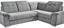 Wohnlandschaft in L-Form Richmond 285x206 cm - Dunkelbraun/Silberfarben, KONVENTIONELL, Holz/Holzwerkstoff (285/206cm) - Ombra