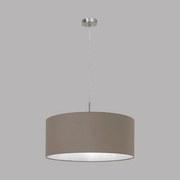 Hängeleuchte Pasteri H: 110 cm mit Textilem Lampenschirm - Taupe/Nickelfarben, MODERN, Textil/Metall (53/110cm)