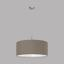 Hängeleuchte Pasteri - Taupe/Nickelfarben, MODERN, Textil/Metall (53/110cm)