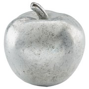 Dekoapfel Stefanie - Silberfarben, MODERN, Kunststoff (10/12cm) - Ombra