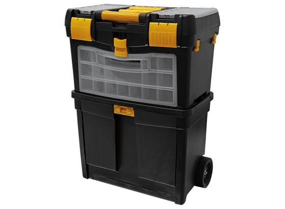 Werkzeugkoffer mit Rollen - Gelb/Schwarz, MODERN, Kunststoff (46/62/26cm)