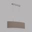 Hängeleuchte Pasteri - Taupe/Nickelfarben, MODERN, Textil/Metall (75/22/110cm)