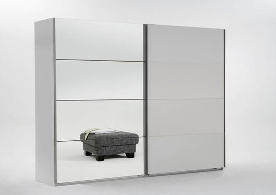 Skriňa S Posuvnými Dvermi Ernie - biela, drevo/kompozitné drevo (225/210/59cm)