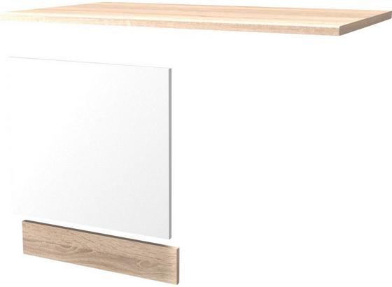 Geschirrspülerblende Samoa  Gsp-paket Ti 60 - Weiß, KONVENTIONELL, Holzwerkstoff (60cm)