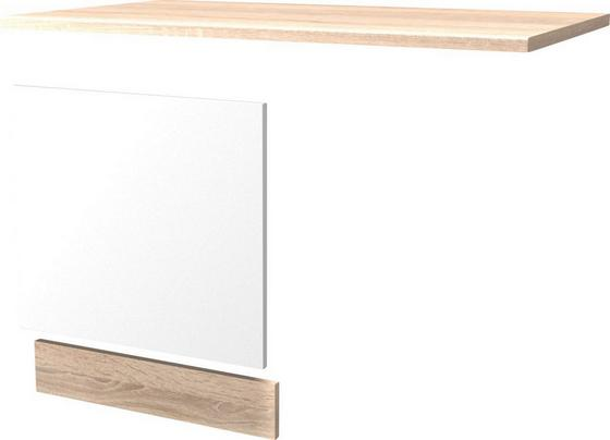 Predná Strana Umývačky Riadu Samoa  Gsp-paket Ti 60 - biela, Konvenčný, drevený materiál (60cm)