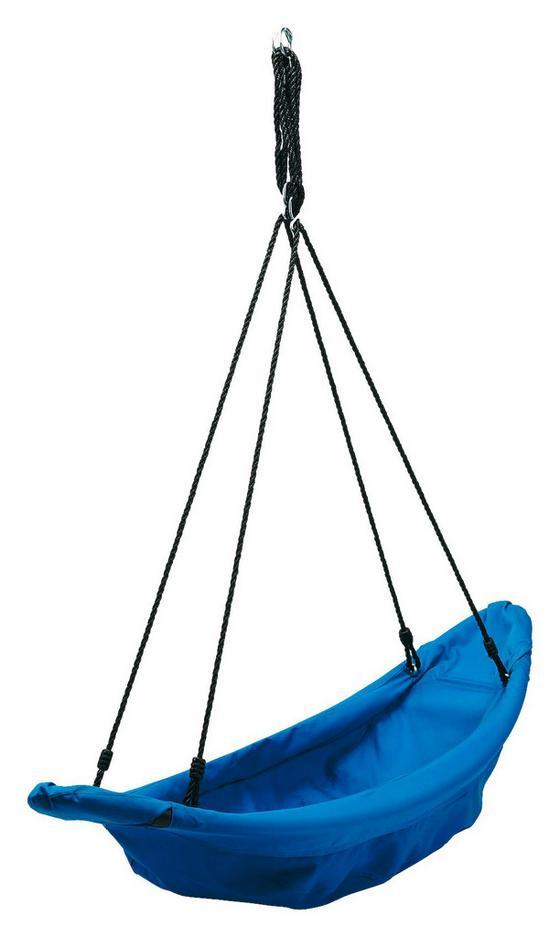 Hängeschaukel Boot - Blau/Schwarz, Textil (153/54/160cm)