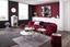 Taburet Juliette - červená, Štýlový, kov/textil (37/40/37cm) - Modern Living