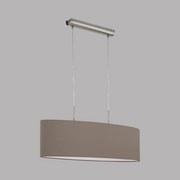 Hängeleuchte Pasteri H: 110 cm mit Textil-Schirm - Taupe/Nickelfarben, MODERN, Textil/Metall (75/22/110cm)