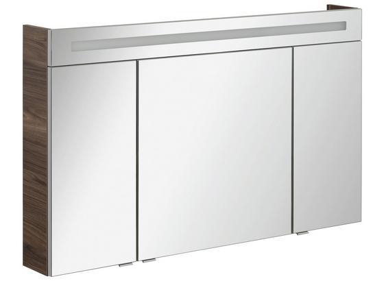Spiegelschrank B.clever 120 cm Ulme - Ulmefarben, MODERN, Glas/Holzwerkstoff (120/71/16cm) - Fackelmann