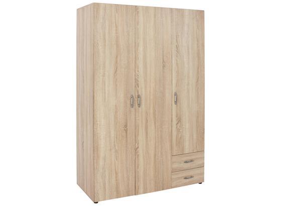 Drehtürenschrank mit Schubladen 120cm Base, Sonoma Eiche Dekor - Eichefarben, KONVENTIONELL, Holzwerkstoff (120/177/52cm)