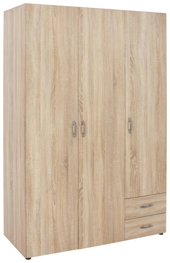 Kleiderschrank Base 3 B:120cm Eiche Sonoma Dekor - Eichefarben, KONVENTIONELL, Holzwerkstoff (120/177/52cm)