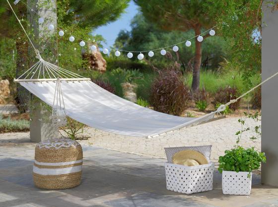 Hojdacia Sieť Relax - prírodné farby/hnedá, drevo/textil (100/200cm) - MÖMAX modern living