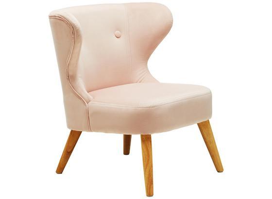 Dětské Křeslo Felina - růžová, Romantický / Rustikální, dřevo/textil (50/58/49,5cm) - Modern Living
