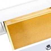 Couchtisch Provence B: 115 cm Kiefer - Weiß, MODERN, Glas/Holz (115/45/60cm)