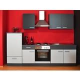 Küchenblock Greta 270cm Grau - Hellgrau/Graphitfarben, Basics, Holzwerkstoff (270/0/60cm)