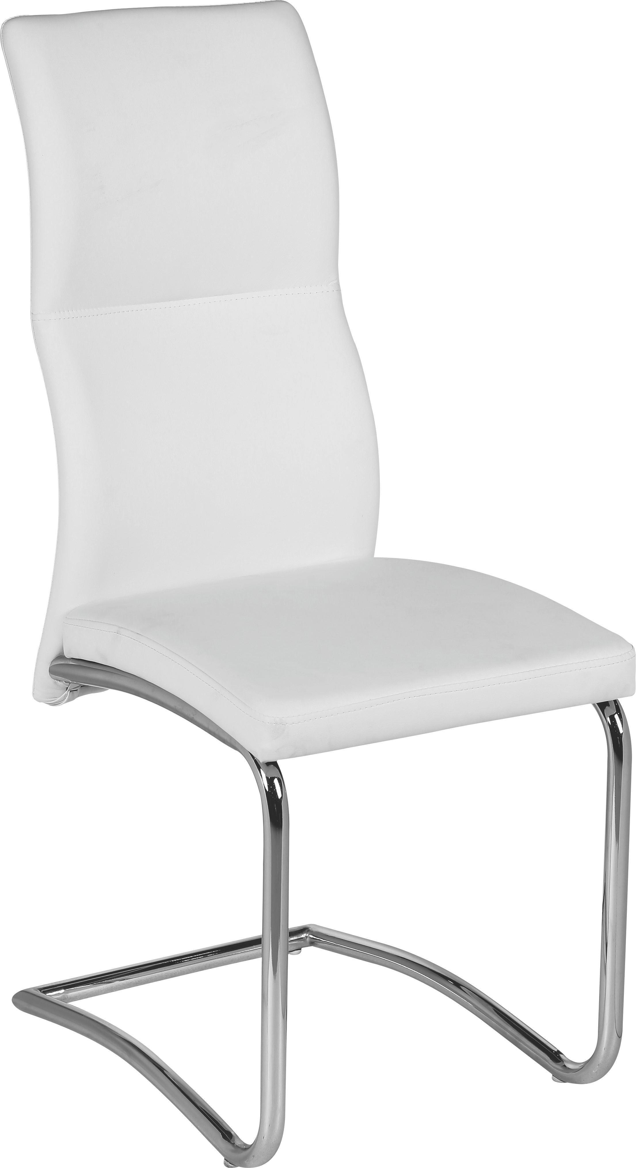 Schwingstuhl Wendy - Weiß, MODERN, Textil/Metall (43,5/102/62cm)