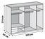 Schwebetürenschrank Level 36a 250cm Weiß - Weiß, MODERN, Holzwerkstoff (250/216/65cm)