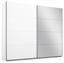 Schwebetürenschrank Belluno 226cm Weiß/spiegel - Weiß, MODERN, Holzwerkstoff (226/210/62cm)