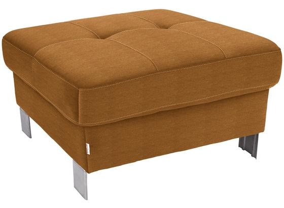 Hocker Savona - Orange, MODERN, Textil (90/44/73cm) - Ombra