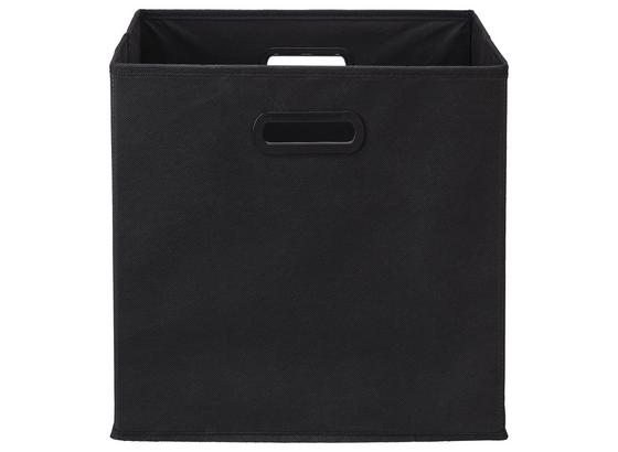 Skladací Box Elli -ext- -top- - čierna, Moderný, kartón/textil (33/33/32cm) - Modern Living