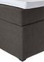 Boxspringbett Luminosa Grau 180x200 - Schwarz/Grau, MODERN, Textil (193/121/212cm)