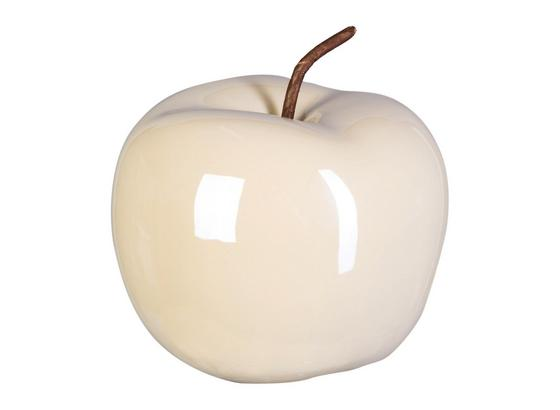 Dekoračné Jablko Anita - krémová, Basics, keramika (15/12,5cm)