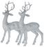 Zvířátko Dekorační Sob -  2-dielny  Set - šedá/měděné barvy, umělá hmota (14/4/26cm) - Mömax modern living
