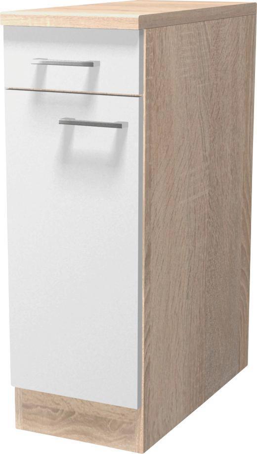 Küchenunterschrank Samoa  Us 30 - Eichefarben/Weiß, KONVENTIONELL, Holzwerkstoff (30/85/57cm)