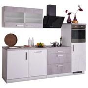 Küchenblock Mara II 270cm Weiß/beton Optik - Hellgrau/Weiß, Basics, Holzwerkstoff (270/60cm)