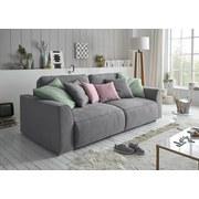 Schlafsofa mit Bettfunktion Bettkasten und Kissen Lazy - Pink/Silberfarben, Design, Holzwerkstoff/Textil (250/87/129cm) - Carryhome