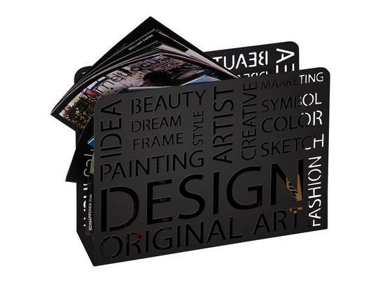 Stojan Na Noviny Design - černá, Moderní, kov (35/10/28cm)