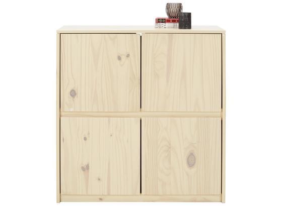 Komoda Milas - prírodné farby, Romantický / Vidiecky, drevo (90/95/39cm)