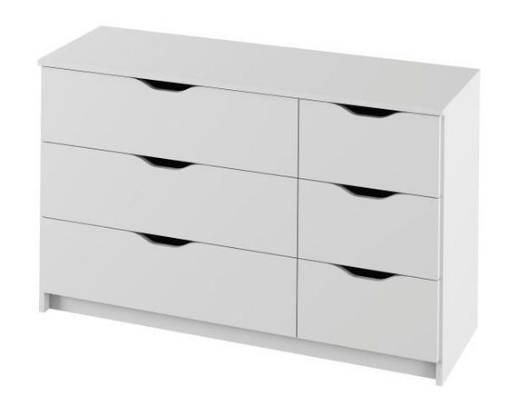 Komoda Adriana 3 Biela - biela, Moderný, drevený materiál (116/71/40cm)