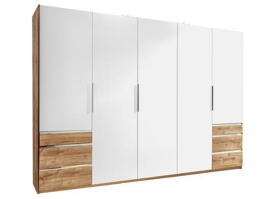 Schwebetürenschrank Level 36a B:300cm Weiß/Eiche Dekor - Eichefarben/Weiß, MODERN, Holzwerkstoff (300/216/65cm)