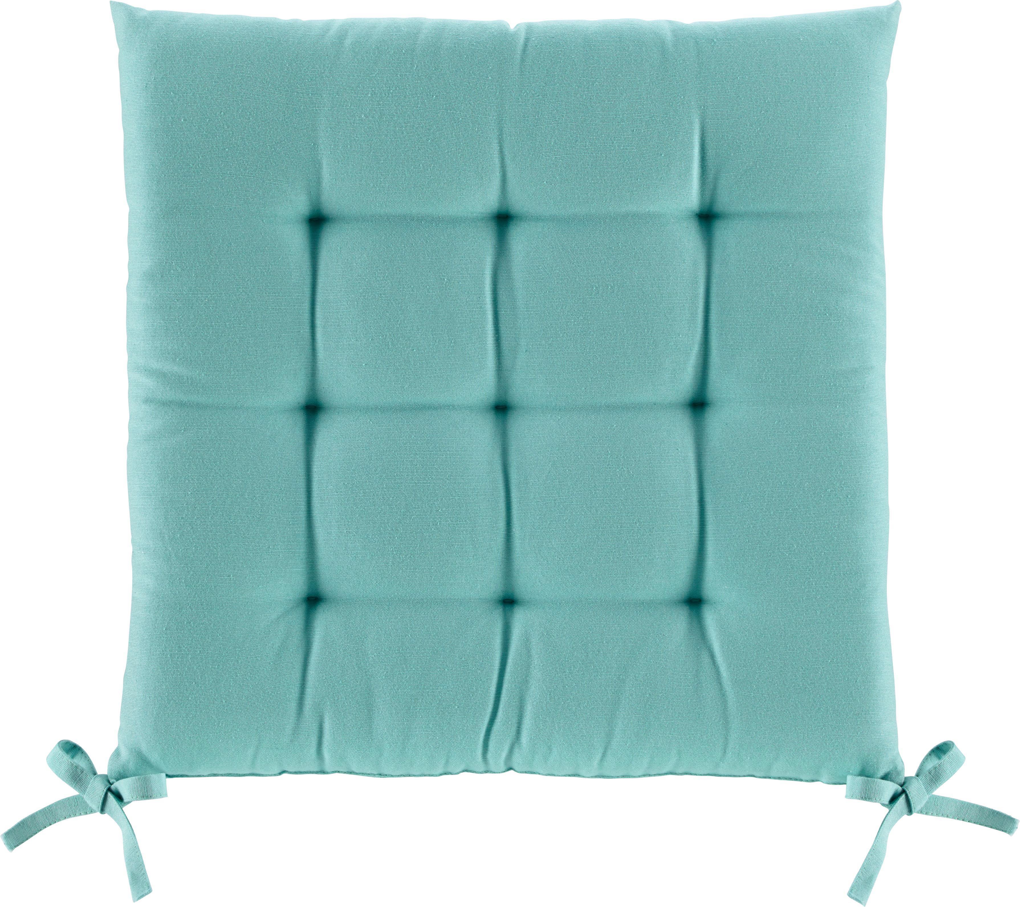 Sedák Anita -ext- - tyrkysová, textil (40/40/4cm) - MÖMAX modern living