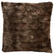 Fellkissen Linessa 45x45 cm - Braun, KONVENTIONELL, Textil (45/45cm) - Ombra