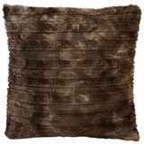 Fellkissen Linessa - Braun, KONVENTIONELL, Textil (45/45cm) - OMBRA