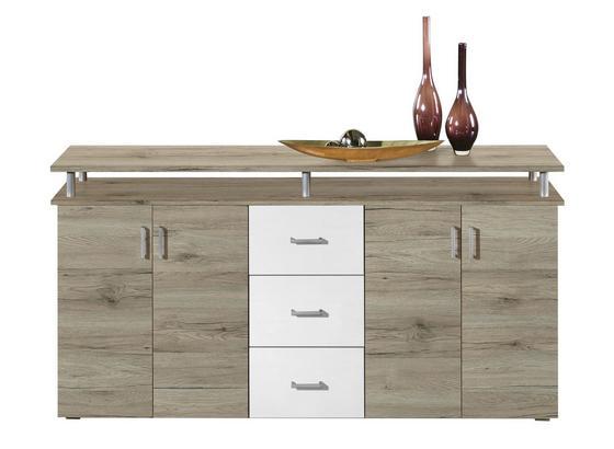 Komoda Lift - barvy dubu, Moderní, kompozitní dřevo (178/90/38cm) - Xora