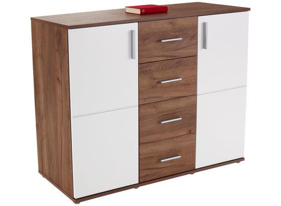 Komoda Ina 03 - bílá/barvy dubu, Moderní, kompozitní dřevo (132,2/95,1/38,3cm)
