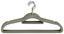 Kleiderbügel Comfort 10er - Dunkelgrau, Kunststoff/Metall (45/23,5/0,5cm) - Homezone